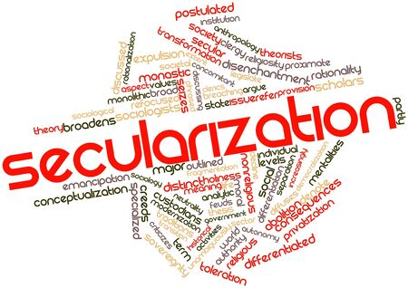 Abstract word cloud for Secularization with related tags and terms
