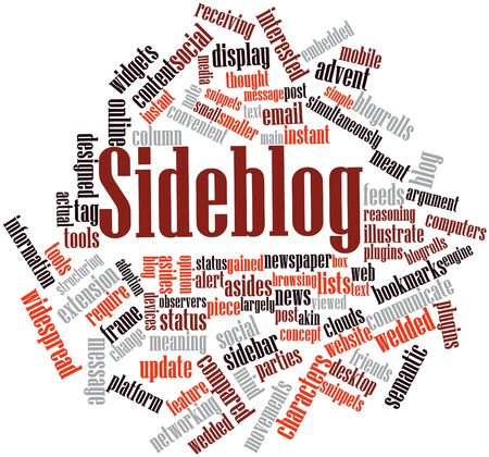 structuring: Abstract word cloud for Sideblog with related tags and terms
