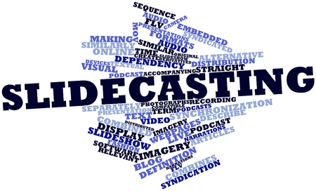 mov: Abstract word cloud for Slidecasting with related tags and terms