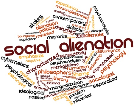 dialectic: Abstract word cloud for Social alienation with related tags and terms