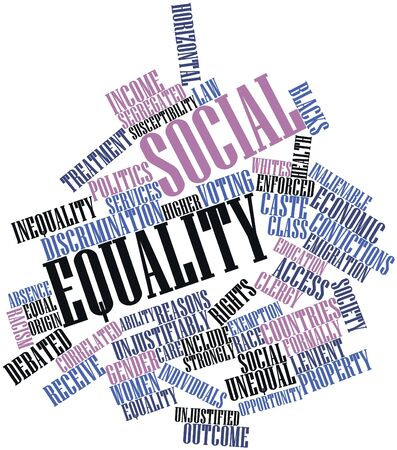 exemption: Abstract word cloud for Social equality with related tags and terms Stock Photo