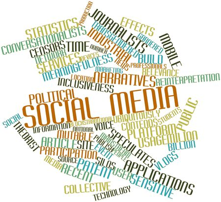 Abstract word cloud for Social media with related tags and terms Stock Photo - 16572043