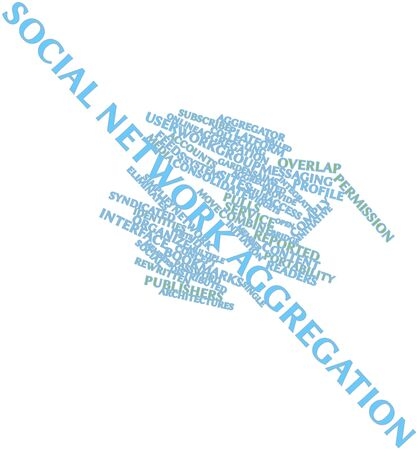 Abstract word cloud for Social network aggregation with related tags and terms Stock Photo - 16571912