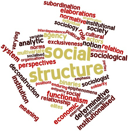 Abstract word cloud for Social structure with related tags and terms Stock Photo - 16572053