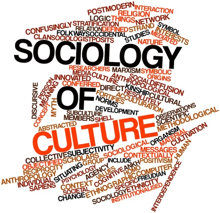Abstract word cloud for Sociology of culture with related tags and terms Stock Photo - 16572040