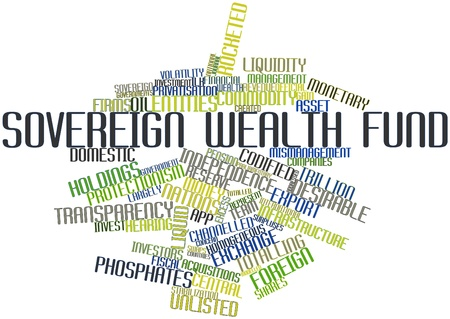 budgetary: Abstract word cloud for Sovereign wealth fund with related tags and terms