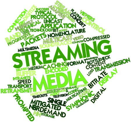 Abstract word cloud for Streaming media with related tags and terms