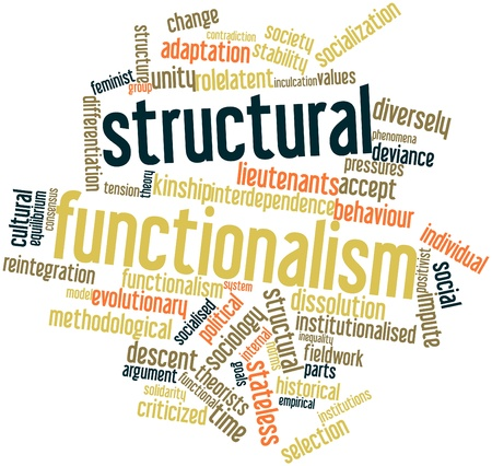 Abstract word cloud for Structural functionalism with related tags and terms Stock Photo - 16572301
