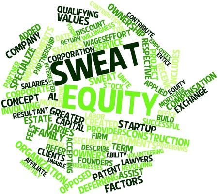 equidad: Resumen nube de palabras para la equidad de sudor con las etiquetas y t�rminos relacionados