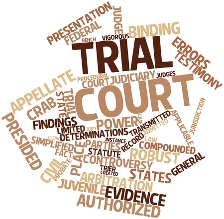 Abstract word cloud for Trial court with related tags and terms photo