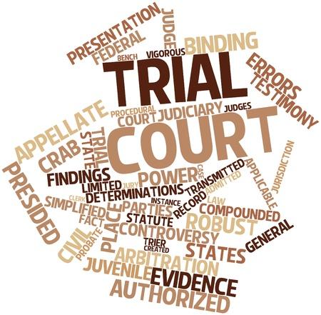 jurado: Nube palabra abstracta para corte de prueba con las etiquetas y términos relacionados