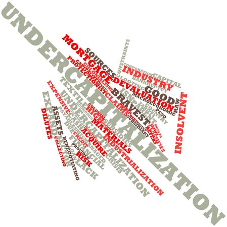looting: Abstract word cloud for Undercapitalization with related tags and terms