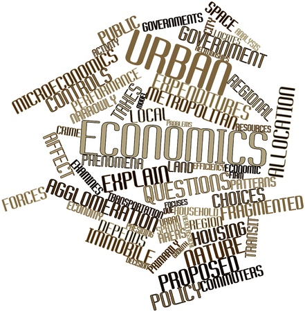 scarce resources: Abstract word cloud for Urban economics with related tags and terms