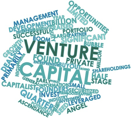 venture: Abstract word cloud for Venture capital with related tags and terms