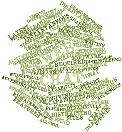 disadvantages: Abstract word cloud for Web chat with related tags and terms