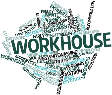 Abstract word cloud for Workhouse with related tags and terms Stock Photo - 16572298