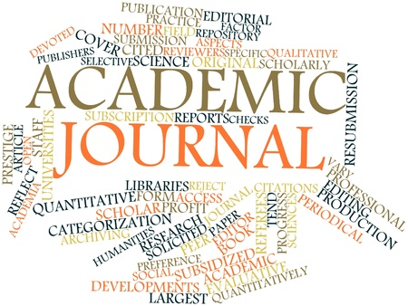 categorization: Abstract word cloud for Academic journal with related tags and terms Stock Photo