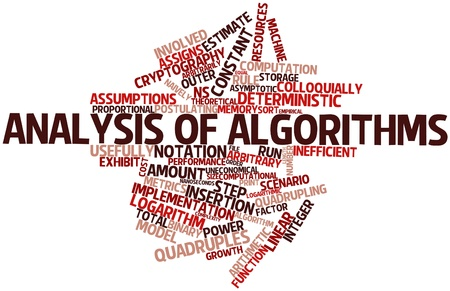 Abstract word cloud for Analysis of algorithms with related tags and terms Stock Photo - 16578560
