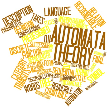 pedagogical: Abstract word cloud for Automata theory with related tags and terms