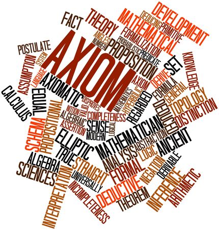 Abstract word cloud for Axiom with related tags and terms Stock Photo - 16578653