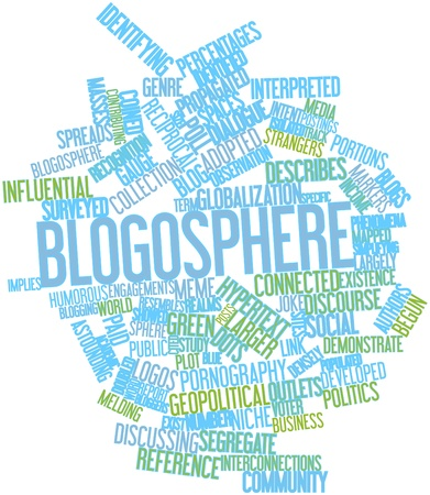 blogosphere: Abstract word cloud for Blogosphere with related tags and terms