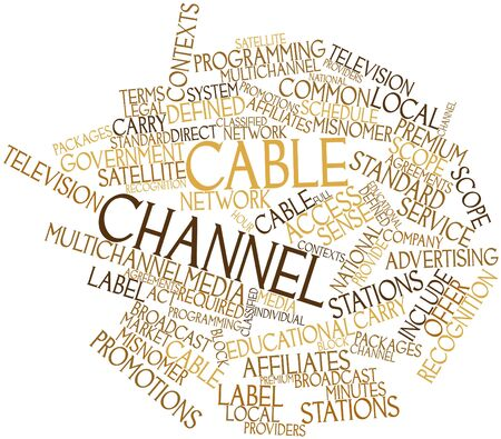 tv network: Abstract word cloud for Cable channel with related tags and terms
