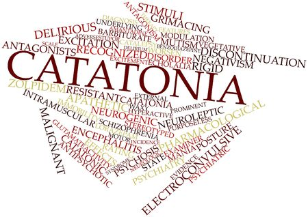 peculiarities: Abstract word cloud for Catatonia with related tags and terms