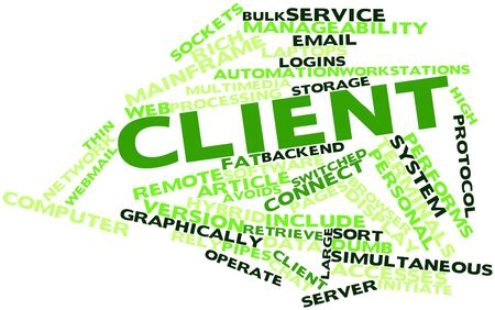 avoids: Abstract word cloud for Client with related tags and terms