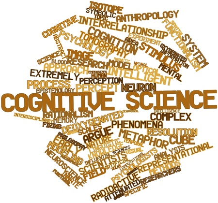 declarative: Abstract word cloud for Cognitive science with related tags and terms Stock Photo