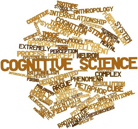 innate: Word cloud astratto per la scienza cognitiva con tag correlati e termini