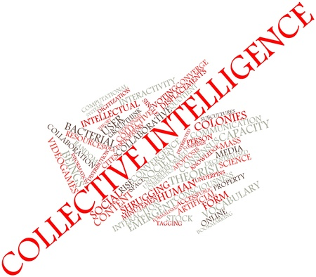 collective: Abstract word cloud for Collective intelligence with related tags and terms Stock Photo