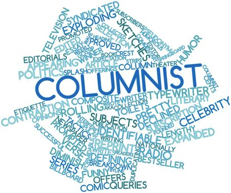 identifiable: Abstract word cloud for Columnist with related tags and terms