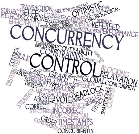 concurrent: Abstract word cloud for Concurrency control with related tags and terms