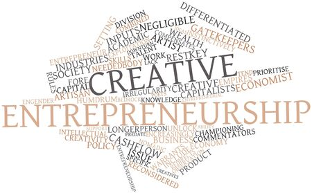 coined: Abstract word cloud for Creative entrepreneurship with related tags and terms