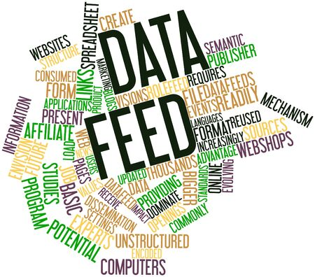 Abstract word cloud for Data feed with related tags and terms Stock Photo - 16579187