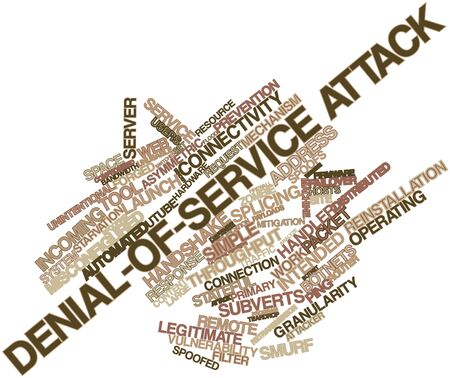 compromised: Abstract word cloud for Denial-of-service attack with related tags and terms