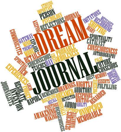 Abstract word cloud for Dream journal with related tags and terms Stock Photo - 16578643