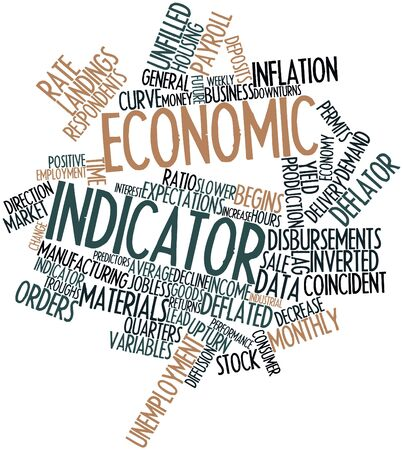 expectations: Abstract word cloud for Economic indicator with related tags and terms