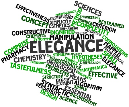 Abstract word cloud for Elegance with related tags and terms