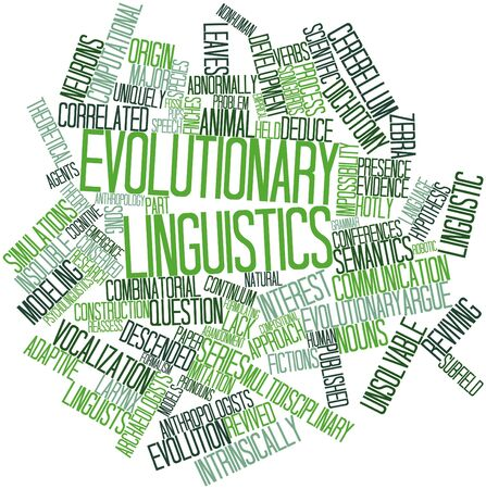 Abstract word cloud for Evolutionary linguistics with related tags and terms Stock Photo - 16578652
