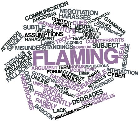 outspoken: Abstract word cloud for Flaming with related tags and terms