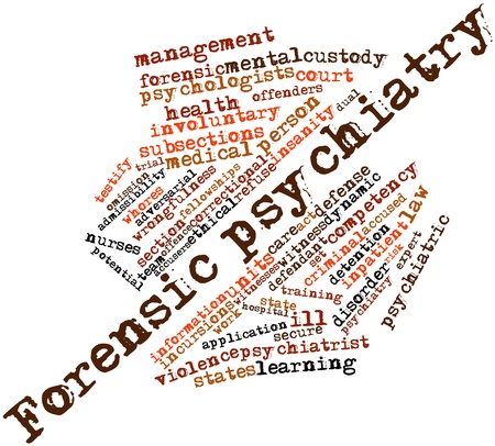 Abstract word cloud for Forensic psychiatry with related tags and terms