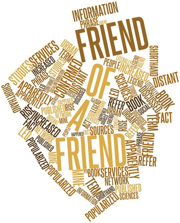 popularized: Abstract word cloud for Friend of a friend with related tags and terms