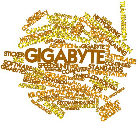quantities: Abstract word cloud for Gigabyte with related tags and terms