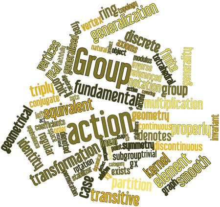category: Abstract word cloud for Group action with related tags and terms
