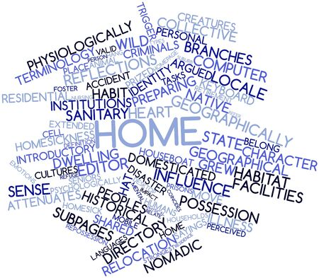 Abstract word cloud for Home with related tags and terms Stock Photo - 16578908