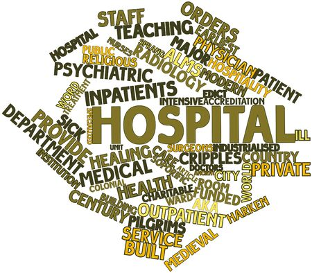 Abstract word cloud for Hospital with related tags and terms photo