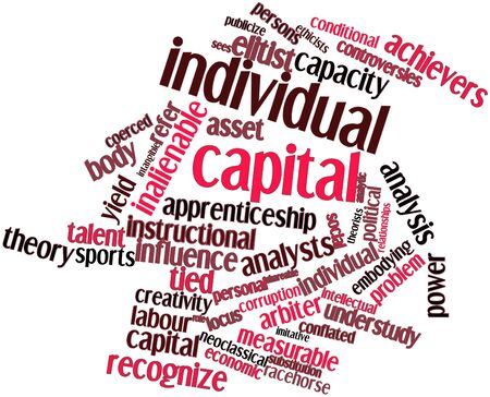 Abstract word cloud for Individual capital with related tags and terms Stock Photo - 16579851