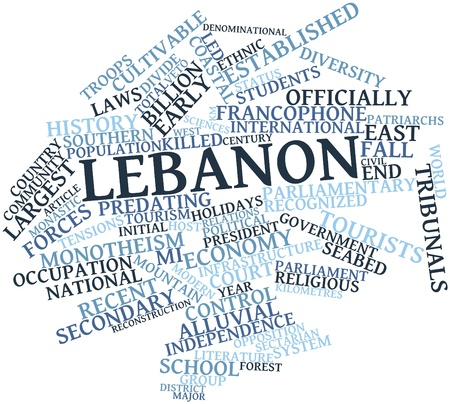 Abstract word cloud for Lebanon with related tags and terms Stock Photo - 16578931