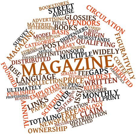 Abstract word cloud for Magazine with related tags and terms Stock Photo - 16578714